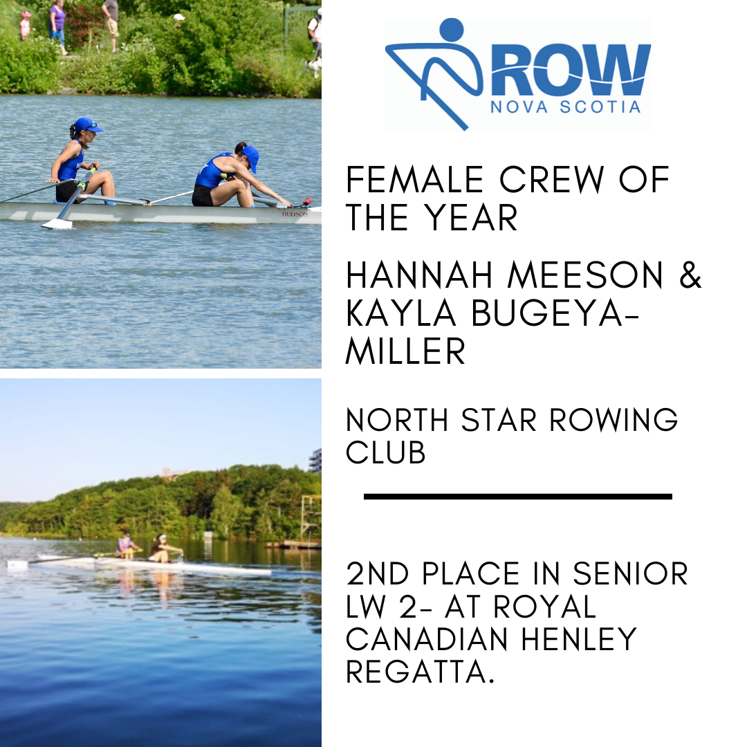 Female Crew of the Year - Kayla and Hannah