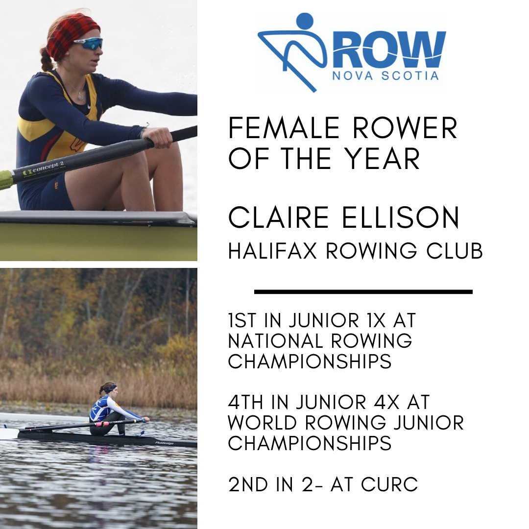 Female Rower of the Year - Claire Ellison